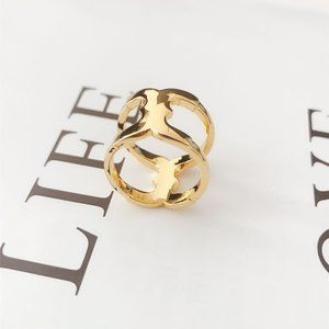 Tory Burch Hollow Classic Marking Ring